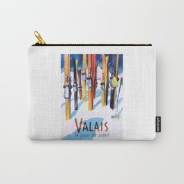 1949 Switzerland Valais Ski Travel Poster Carry-All Pouch