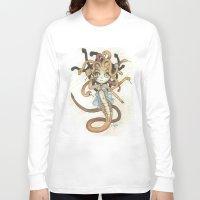magic the gathering Long Sleeve T-shirts featuring Snake Token - Magic the Gathering - Pharika by Deadlance
