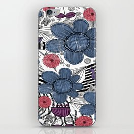 Whimsical Floral Pattern iPhone Skin