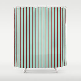 Holiday Stripes - Christmas Winter Shower Curtain
