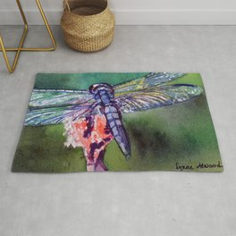 Blue and Green Dragonfly Rug