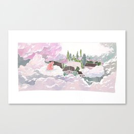 Jelly arrived in Cloud Land Canvas Print
