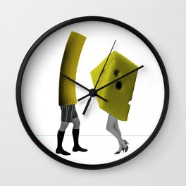 Because she's the cheese and I'm the macaroni Wall Clock