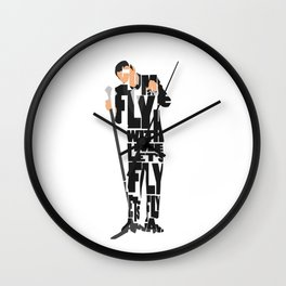 Typography Art of Frank Sinatra Wall Clock