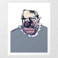 clown Art Prints featuring clown by jenapaul