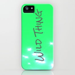 Lime Wild Thing iPhone Case