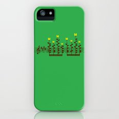 Music notes garden iPhone (5, 5s) Slim Case