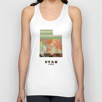 utah Tank Tops featuring Utah state map modern by bri.buckley