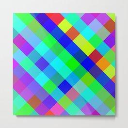 Checkered Colour - Geometric, Colour, Checkered Pattern Metal Print