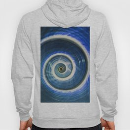 Blue and white spiral shell Hoody