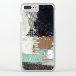 Another Vice Mixed Media Abstract Collage Art Clear iPhone Case