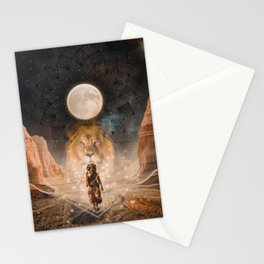 Full Moon in Leo Stationery Cards