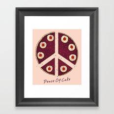 Peace of Cake Framed Art Print