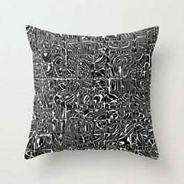 Abstract MAGA Typography Throw Pillow