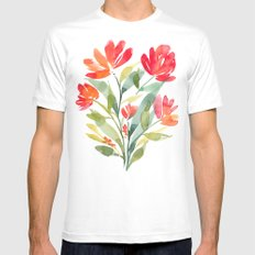 Spring MEDIUM White Mens Fitted Tee