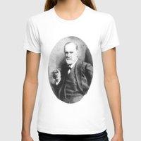 freud T-shirts featuring Sigmund Freud (Pen Pointillism) by Daniel Point