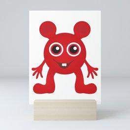 Red Smiley Man Mini Art Print