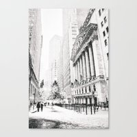 new york city Canvas Prints featuring New York City Christmas by Vivienne Gucwa