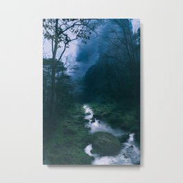 Moody Forest River Metal Print