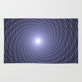 Abstract Fractal Blue Spiral Background Rug
