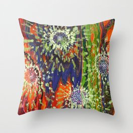 Induced Cosmic Revelations (Four Dreams, In Mutating Cycle) Throw Pillow