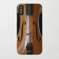 violin iPhone & iPod Cases featuring Violin by Päivi Vikström