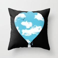 sky balloon Throw Pillow