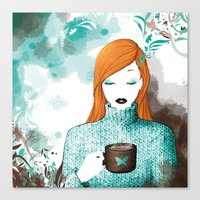 chocolate Canvas Prints featuring Chocolate by Luby