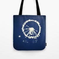 ferris wheel Tote Bags featuring Ferris Wheel  by Lauren Lee Design's