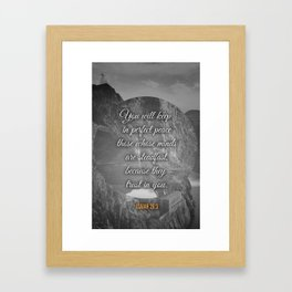 Perfect Peace Framed Art Print
