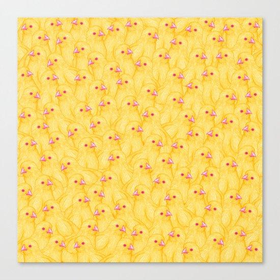 The Yellow Baby Chicks Club Canvas Print