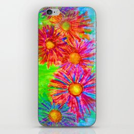 Bright Sketch Flowers iPhone Skin