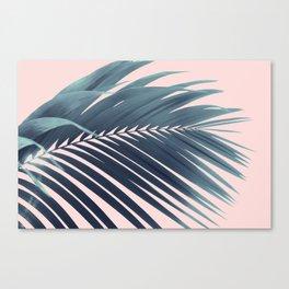 Palm Leaf Blush Vibes #1 #tropical #decor #art #society6 Canvas Print