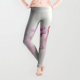Pink Peonies 06 Leggings