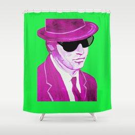 Elwood Blues(& Green & Purple) Shower Curtain