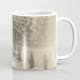 Beautiful river grasses in sepia Coffee Mug