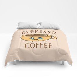 Depresso Coffee, Funny, Quote, Coffee Comforters