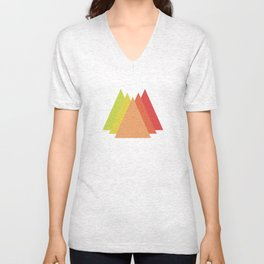 Simple Mountains Unisex V-Neck