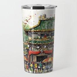 Chinese Temple on Waterloo Street, Singapore Travel Mug