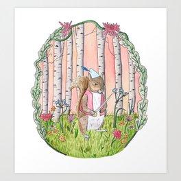 Sinclair the Squirrel Art Print