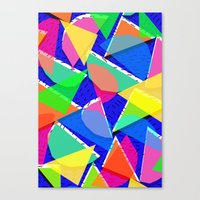 80s Canvas Prints featuring 80s shapes by Sarah Bagshaw