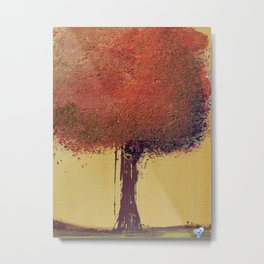 Autumn Orange Tree Painting Metal Print
