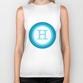 Blue letter H Biker Tank