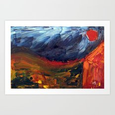 Expressionist Landscape Art Print