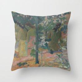 Paul Gauguin - The Bathers Throw Pillow