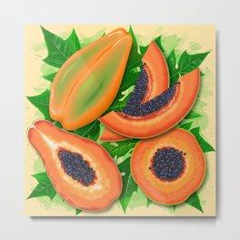 Papaya Party Metal Print