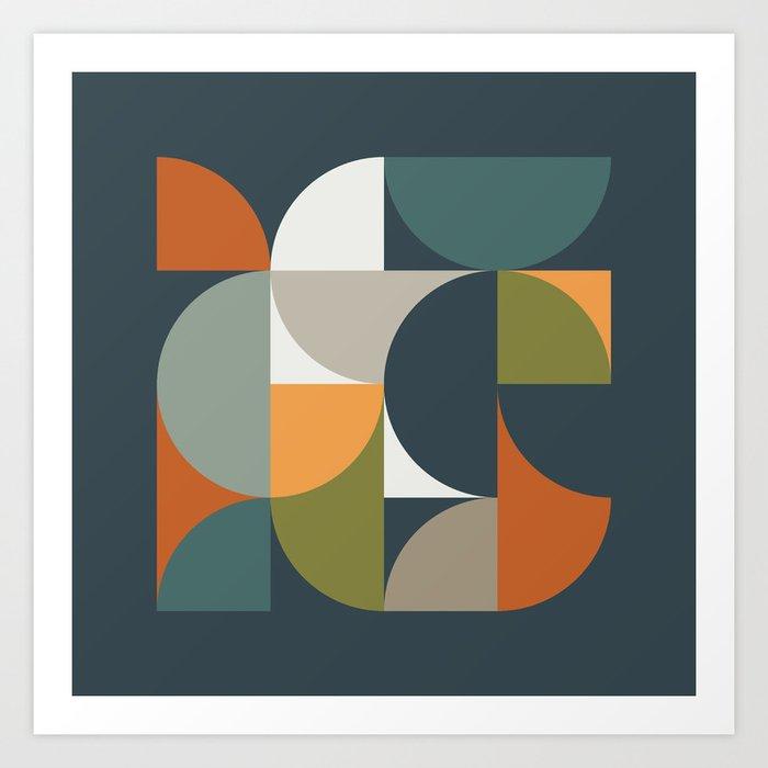 Mid Century Geometric 12/2 Art Print