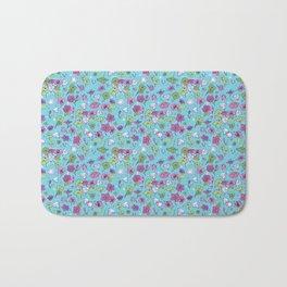 Flowers, Clovers & Diamonds Bath Mat