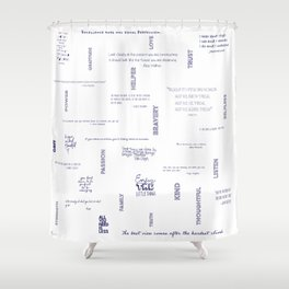 Meaningful Quotes - Savina Shower Curtain