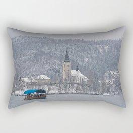 Bled Island Pletna Boat Rectangular Pillow
